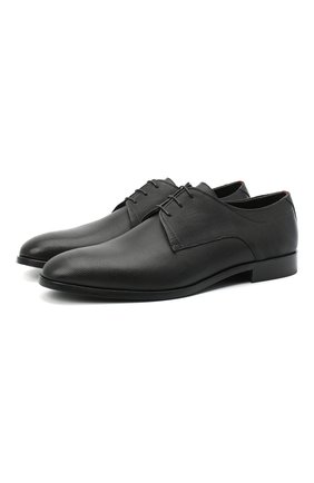Мужские кожаные дерби HUGO черного цвета, арт. 50445828 | Фото 1 (Стили: Классический)
