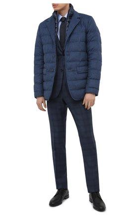 Мужские кожаные дерби HUGO черного цвета, арт. 50445828 | Фото 2 (Стили: Классический)