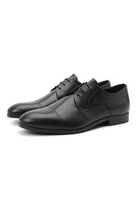 Мужские кожаные дерби HUGO черного цвета, арт. 50441010 | Фото 1