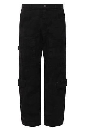Мужские джинсы VALENTINO черного цвета, арт. VV3DD00R724   Фото 1