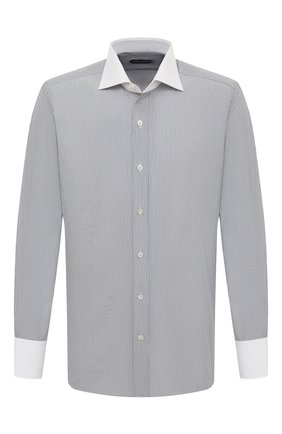 Мужская хлопковая сорочка TOM FORD черно-белого цвета, арт. 9FT020/94SWAX | Фото 1