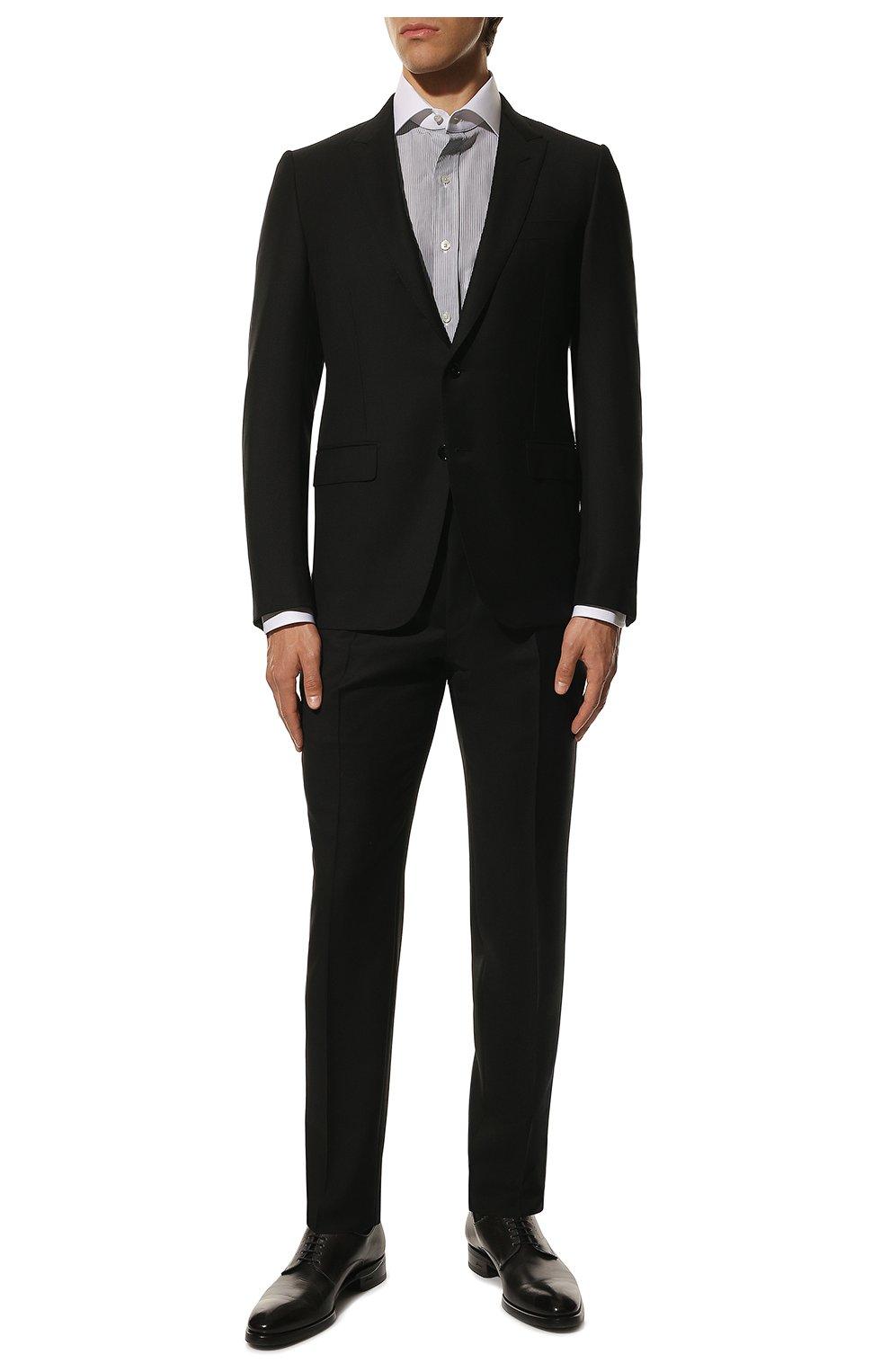 Мужская хлопковая сорочка TOM FORD черно-белого цвета, арт. 9FT020/94SWAX   Фото 2