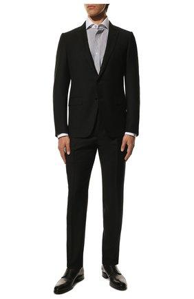 Мужская хлопковая сорочка TOM FORD черно-белого цвета, арт. 9FT020/94SWAX | Фото 2