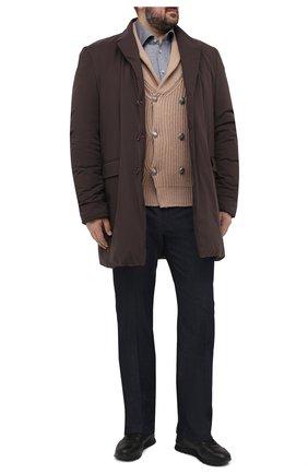 Мужской кашемировый кардиган BRUNELLO CUCINELLI светло-коричневого цвета, арт. M2237606   Фото 2