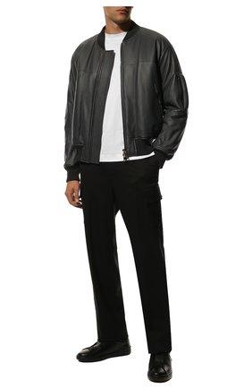 Мужские кожаные кеды open valentino garavani VALENTINO черного цвета, арт. VY2S0830/PST | Фото 2