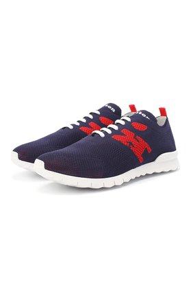 Мужские текстильные кроссовки KITON темно-синего цвета, арт. USSKD0TN00818 | Фото 1