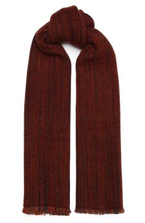 Мужской кашемировый шарф LORO PIANA бордового цвета, арт. FAL3812 | Фото 1