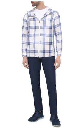 Мужские джинсы KITON синего цвета, арт. UFPP79J07T26 | Фото 2