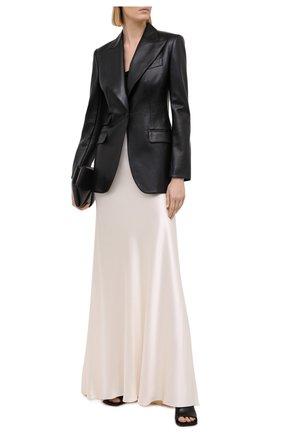 Женская шелковая юбка RALPH LAUREN кремвого цвета, арт. 293829109 | Фото 2