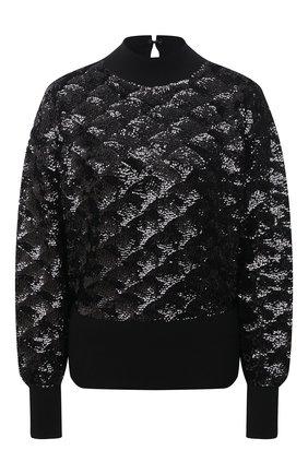 Женский шерстяной свитер BOSS черного цвета, арт. 50444458 | Фото 1