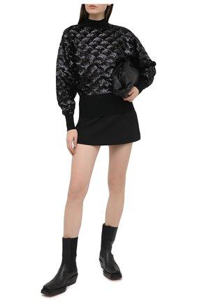 Женский шерстяной свитер BOSS черного цвета, арт. 50444458 | Фото 2