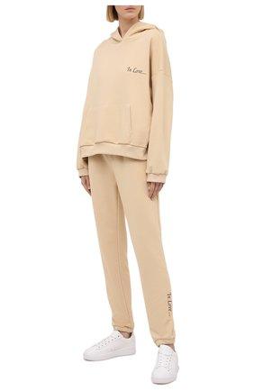 Женский хлопковый костюм SEVEN LAB бежевого цвета, арт. HP20-IL beige   Фото 1