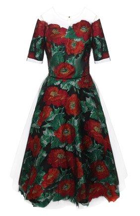 Женское платье OSCAR DE LA RENTA разноцветного цвета, арт. 20PN6032VPE | Фото 1