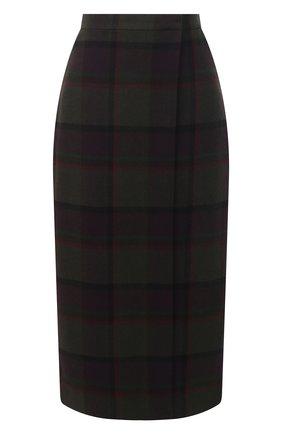 Женская юбка из шерсти и кашемира RALPH LAUREN фиолетового цвета, арт. 293835468 | Фото 1