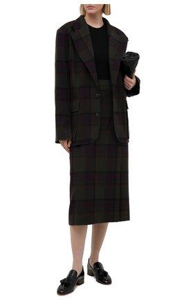 Женская юбка из шерсти и кашемира RALPH LAUREN фиолетового цвета, арт. 293835468 | Фото 2