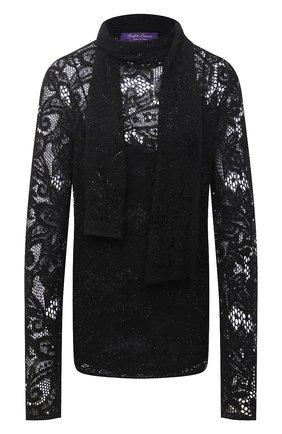 Женский пуловер из льна и кашемира RALPH LAUREN черного цвета, арт. 293835486   Фото 1
