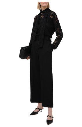 Женский пуловер из льна и кашемира RALPH LAUREN черного цвета, арт. 293835486   Фото 2
