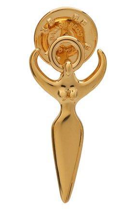 Женская значок CHLOÉ золотого цвета, арт. CHC20WFP14CB7 | Фото 1 (Материал: Металл)