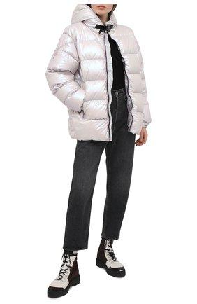 Женская пуховая куртка 6 moncler х 1017 alyx 9sm MONCLER GENIUS светло-бежевого цвета, арт. F2-09Y-1B500-60-539ZM   Фото 2