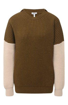 Женский свитер LOEWE хаки цвета, арт. S817Y14K57 | Фото 1
