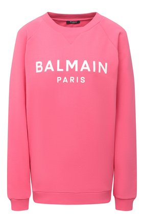 Женский хлопковый свитшот BALMAIN розового цвета, арт. VF13691/B002 | Фото 1