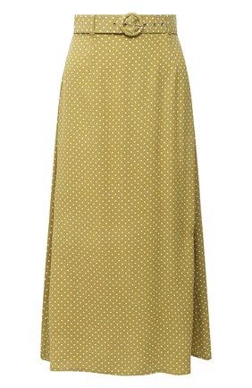 Женская юбка из вискозы FAITHFULL THE BRAND зеленого цвета, арт. FF1603-BDF | Фото 1