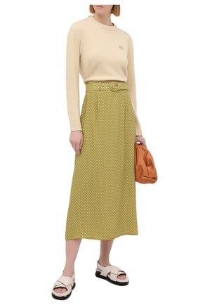 Женская юбка из вискозы FAITHFULL THE BRAND зеленого цвета, арт. FF1603-BDF | Фото 2