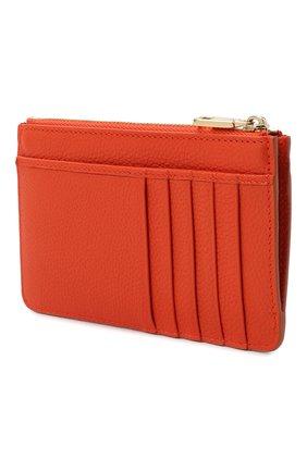 Женский кожаный футляр для кредитных карт DOLCE & GABBANA оранжевого цвета, арт. BI1261/AW737   Фото 2