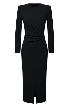 Женское платье из вискозы GIORGIO ARMANI черного цвета, арт. 3KAA73/AJFBZ | Фото 1