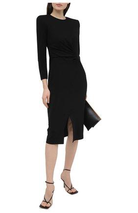 Женское платье из вискозы GIORGIO ARMANI черного цвета, арт. 3KAA73/AJFBZ | Фото 2