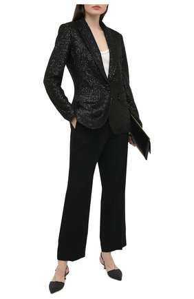 Женский жакет с пайетками ST. JOHN черного цвета, арт. K6210C2 | Фото 2