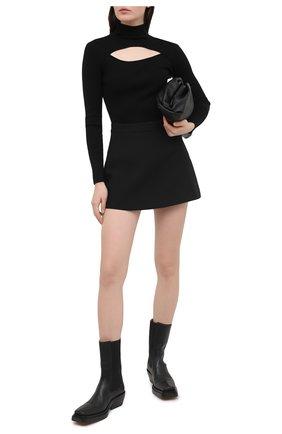 Женский пуловер DOROTHEE SCHUMACHER черного цвета, арт. 110104/0PEN MIND | Фото 2