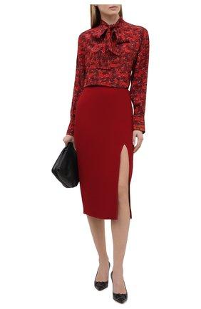 Женская юбка VALENTINO бордового цвета, арт. VB3RA77065C | Фото 2