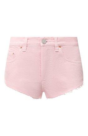 Женские джинсовые шорты VETEMENTS розового цвета, арт. WE51PA100P 2807/BABY PINK | Фото 1