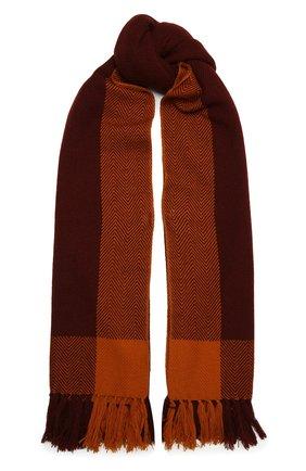 Женский кашемировый шарф LORO PIANA оранжевого цвета, арт. FAL3990   Фото 1 (Материал: Кашемир, Шерсть; Принт: С принтом)