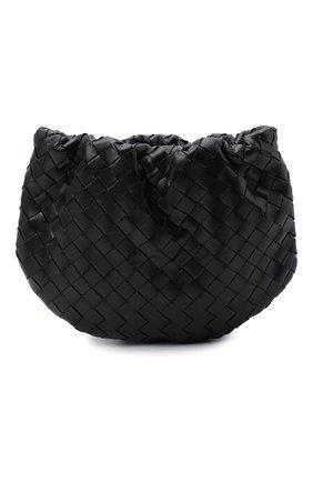 Женская сумка bulb mini BOTTEGA VENETA черного цвета, арт. 651905/V08Z1 | Фото 1 (Размер: mini; Материал: Натуральная кожа; Сумки-технические: Сумки через плечо)