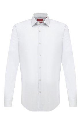 Мужская хлопковая сорочка HUGO белого цвета, арт. 50443550 | Фото 1
