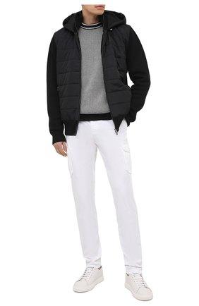 Мужской свитер из шерсти и хлопка BOSS черно-белого цвета, арт. 50442160   Фото 2