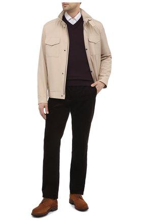 Мужские хлопковые брюки RALPH LAUREN коричневого цвета, арт. 798828105 | Фото 2 (Материал подклада: Вискоза; Длина (брюки, джинсы): Стандартные; Случай: Повседневный; Стили: Кэжуэл; Материал внешний: Хлопок)