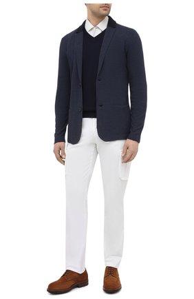 Мужской пиджак из шелка и льна LORO PIANA синего цвета, арт. FAL0061 | Фото 2