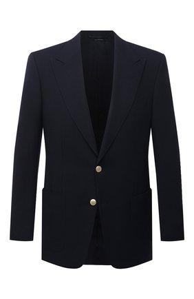 Мужской пиджак TOM FORD темно-синего цвета, арт. 950R30/11HA40 | Фото 1