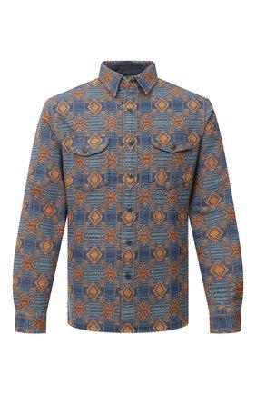 Мужская хлопковая рубашка RRL разноцветного цвета, арт. 782804336 | Фото 1