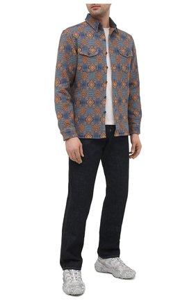 Мужская хлопковая рубашка RRL разноцветного цвета, арт. 782804336 | Фото 2