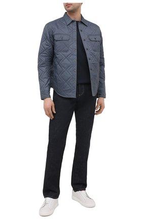 Мужская утепленная куртка RRL синего цвета, арт. 782804341 | Фото 2