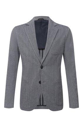 Мужской пиджак GIORGIO ARMANI серого цвета, арт. 8WGGG02B/T02GP | Фото 1