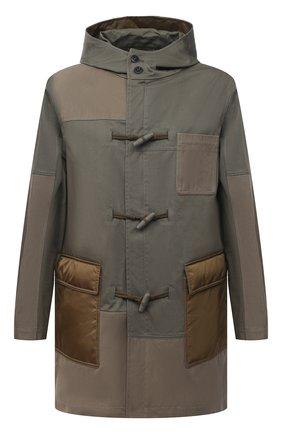 Мужская хлопковая парка VALENTINO хаки цвета, арт. VV3CJF5072V   Фото 1 (Рукава: Длинные; Стили: Кэжуэл; Кросс-КТ: Куртка; Материал внешний: Хлопок; Материал подклада: Синтетический материал; Длина (верхняя одежда): До середины бедра)