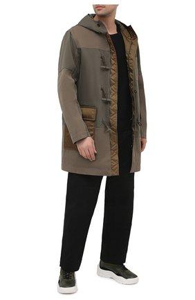 Мужские кожаные кроссовки gumboy VALENTINO хаки цвета, арт. VY2S0B17/VRN   Фото 2 (Материал внутренний: Текстиль; Подошва: Массивная)