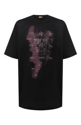 Мужская хлопковая футболка ZILLI черного цвета, арт. MBU-NT300-PIED1/MC01 | Фото 1 (Рукава: Короткие; Материал внешний: Хлопок; Длина (для топов): Стандартные; Стили: Кэжуэл; Big sizes: Big Sizes)