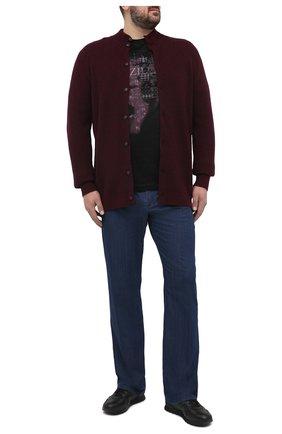 Мужская хлопковая футболка ZILLI черного цвета, арт. MBU-NT300-PIED1/MC01 | Фото 2 (Рукава: Короткие; Материал внешний: Хлопок; Длина (для топов): Стандартные; Стили: Кэжуэл; Big sizes: Big Sizes)