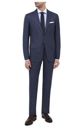 Мужской костюм из кашемира и шелка KITON синего цвета, арт. UA81K06T12   Фото 1